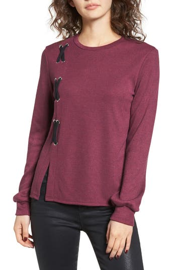 WAYF Lace-Up Sweater