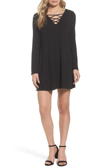 Mary & Mabel Crisscross Shift Dress