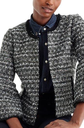 J.Crew Belle Sequin Tweed Jacket