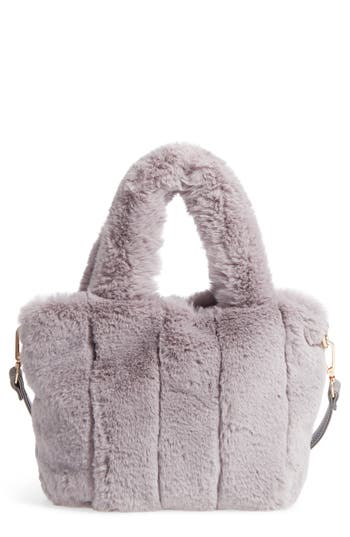 Street Level Faux Fur Tote