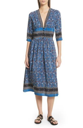 Tallulah Empire Waist Silk Midi Dress by Sea