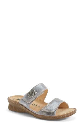 Mephisto 'Bregalia' Metallic Leather Sandal (Women)