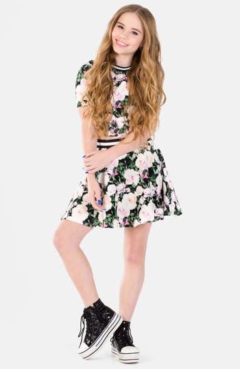 Miss Behave Casey Floral Print Crop Top Amp Skirt Big