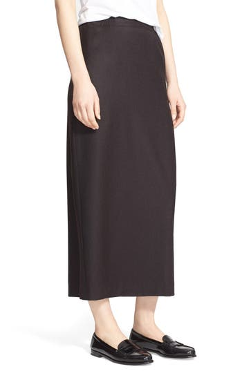eskandar Long Straight Flannel Skirt | Nordstrom