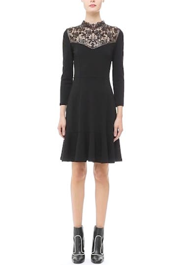 'Rieko' Lace Inset Jersey Dress, video thumbnail
