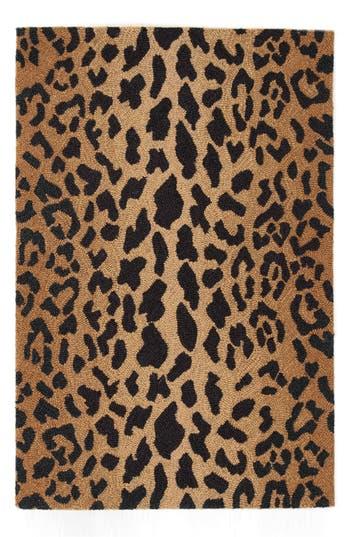 Dash Amp Albert Leopard Print Wool Rug Nordstrom