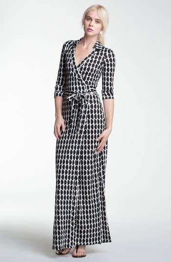 Diane Von Furstenberg Abigail Print Silk Wrap Maxi Dress