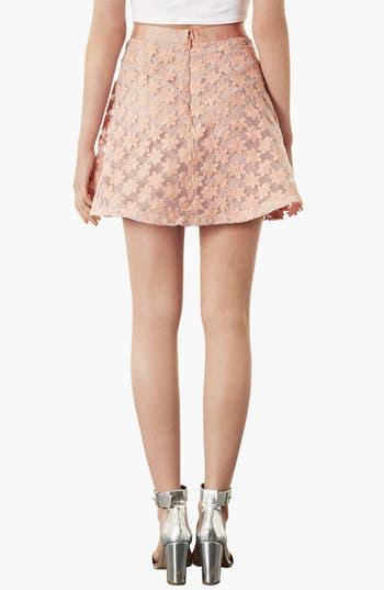 Alternate Image 2  - Topshop Embroidered Flower Skater Skirt