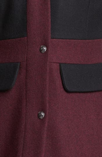 Alternate Image 3  - GUESS Two Tone Wool Blend Coat (Online Only)