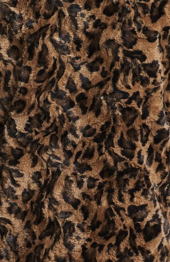 Alternate Image 5  - Alice + Olivia Leopard Print Faux Fur Jacket