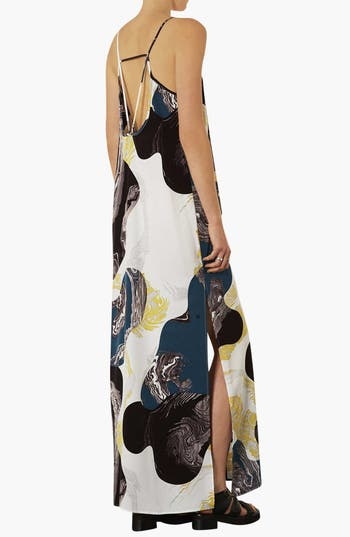 Alternate Image 2  - Topshop Marble Print Maxi Dress