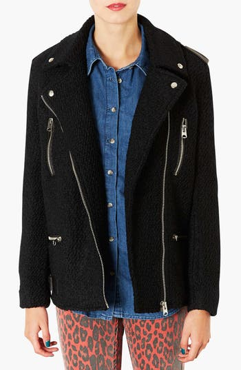 Alternate Image 1 Selected - Topshop Wool Moto Jacket