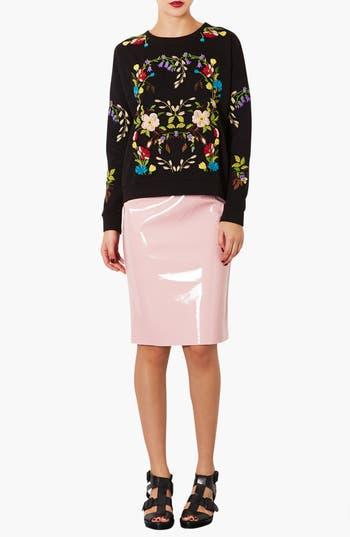 Alternate Image 4  - Topshop Embroidered Floral Sweatshirt
