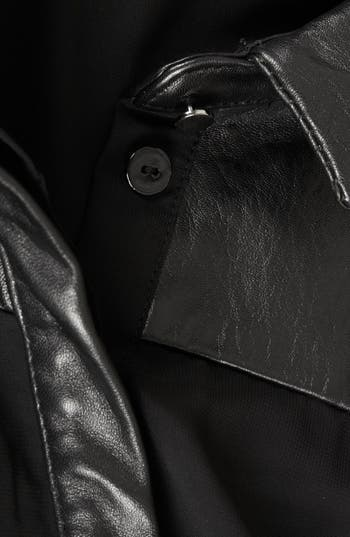 Alternate Image 4  - Topshop 'The Collection Starring Kate Bosworth' Leather Trim Shirtdress