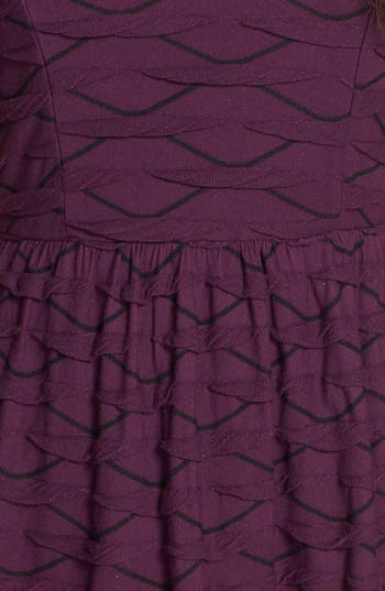 Alternate Image 3  - Socialite Ruffled Skater Dress (Juniors)