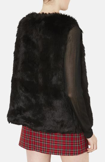 Alternate Image 2  - Topshop Faux Fur Vest