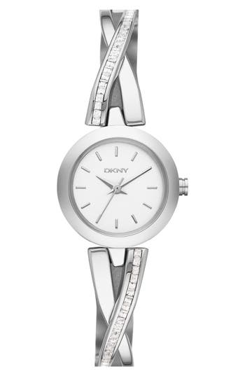 Dkny väskor accent : Dkny crosswalk crystal accent bangle watch mm nordstrom