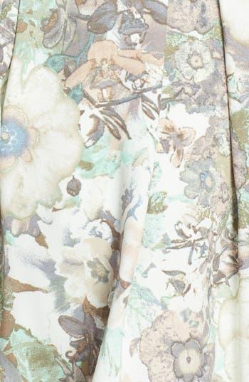 Alternate Image 3  - BCNU Floral Print Organza Inset Pleat Skirt (Juniors)