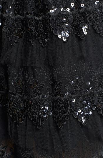 Alternate Image 4  - a. drea Embellished Tiered Skater Dress (Juniors)