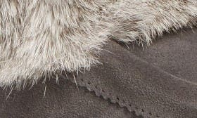 Charcoal Rabbit Fur Suede swatch image