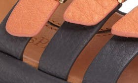 Salmon/ Charcoal Leather swatch image