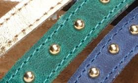 Blue/ Gold/ Teal Nubuck Leath swatch image