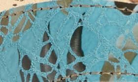 Turquoise Nubuck Leather swatch image