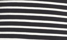 Black - Ivory Stripe swatch image