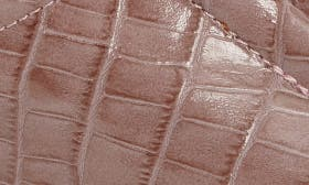 Mauve Croc Leather swatch image
