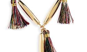Gold/ Multi Tassels swatch image