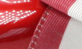 Red/ White Faux Leather swatch image
