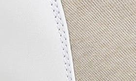 Porcelain/ Oatmeal Leather swatch image