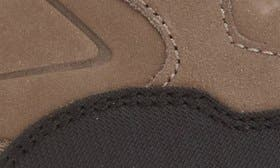 Black/ Fog Nubuck Leather swatch image
