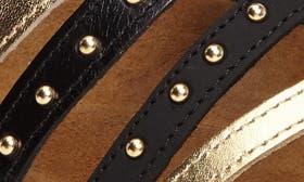 Black/ Gold Nubuck Leather swatch image