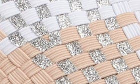 Blush/ Silver Metallic Fabric swatch image