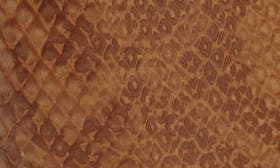 Tan Snake Print Faux Leather swatch image