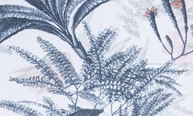 White Tropical Toile Print swatch image