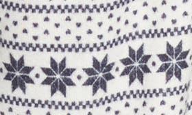 Ivory Egret Snowflake Fairisle swatch image