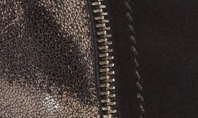 Black/ Pewter Leather swatch image