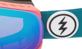 Pink Palms/ Blue Chrome swatch image