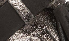 Black Glitter Leather swatch image