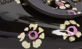 Black Stamped Floral swatch image