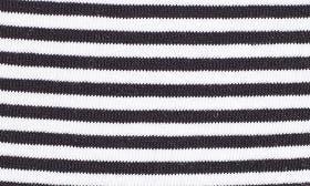 Navy- White Small Stripe swatch image