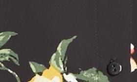 Black Large Floral Print swatch image