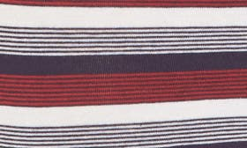 Navy- Red Feeder Rugby Stripe swatch image