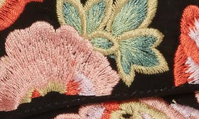 Black/ Coral Multi Embroidery swatch image