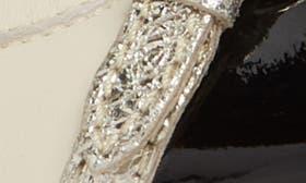 Ivory/ Black Combo Leather swatch image