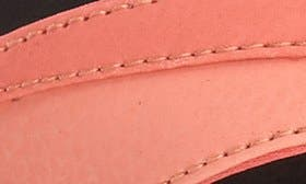 Coral/ Black Faux Leather swatch image