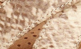 Sand Snake Print Leather swatch image