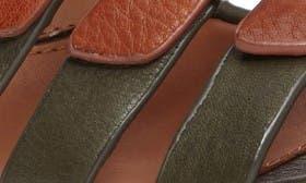 Whiskey/ Olive Leather swatch image